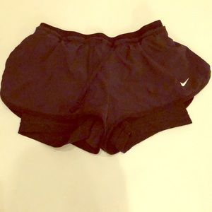 Nike dri-fit shorts with inner short size XS